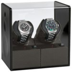 Кутия за самонавиващи се часовници Beco Technic Satin Carbon Expert For 2 Watches